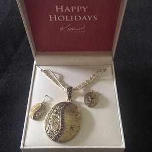 NIB Kim Rogers necklace and earrings set